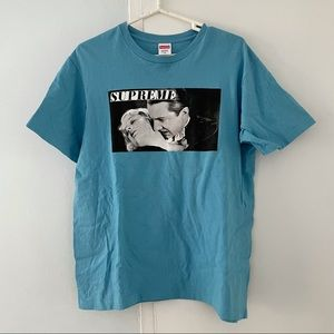 SUPREME old Hollywood blue graphic tee shirt M
